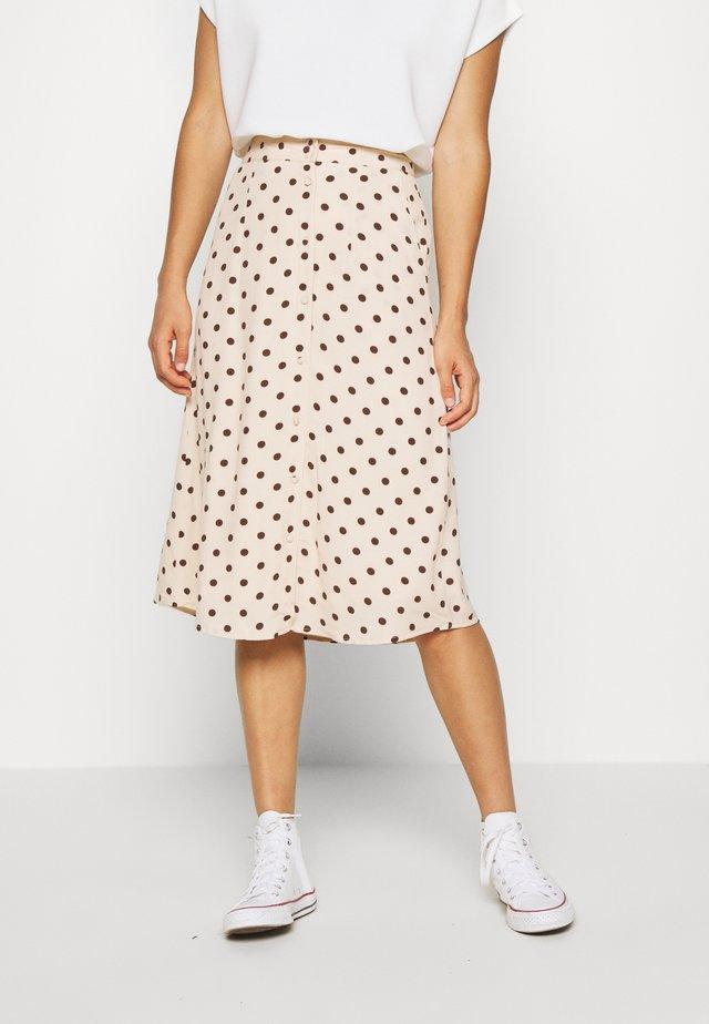 OBJELLIE SKIRT - Áčková sukně - sandshell