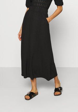 OBJCELIA LONG SKIRT TALL - Maxi sukně - black