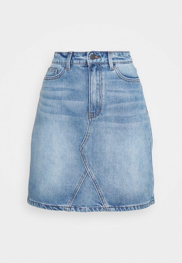 OBJGLORIA SKIRT  - Denimová sukně - light blue denim