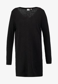 Object - OBJNADINE  - Gebreide jurk - black - 6
