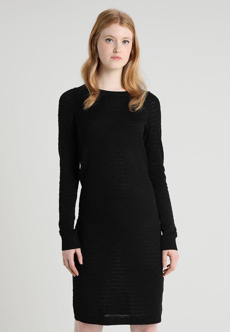 Object - OBJCAROLA DRESS - Strickkleid - black