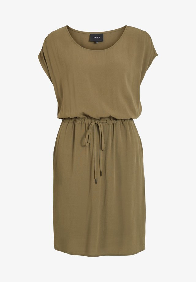 OBJBAY DALLAS - Korte jurk - burnt olive