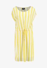 Object - OBJBAY DALLAS DRESS SEASON - Robe d'été - yellow/white - 4