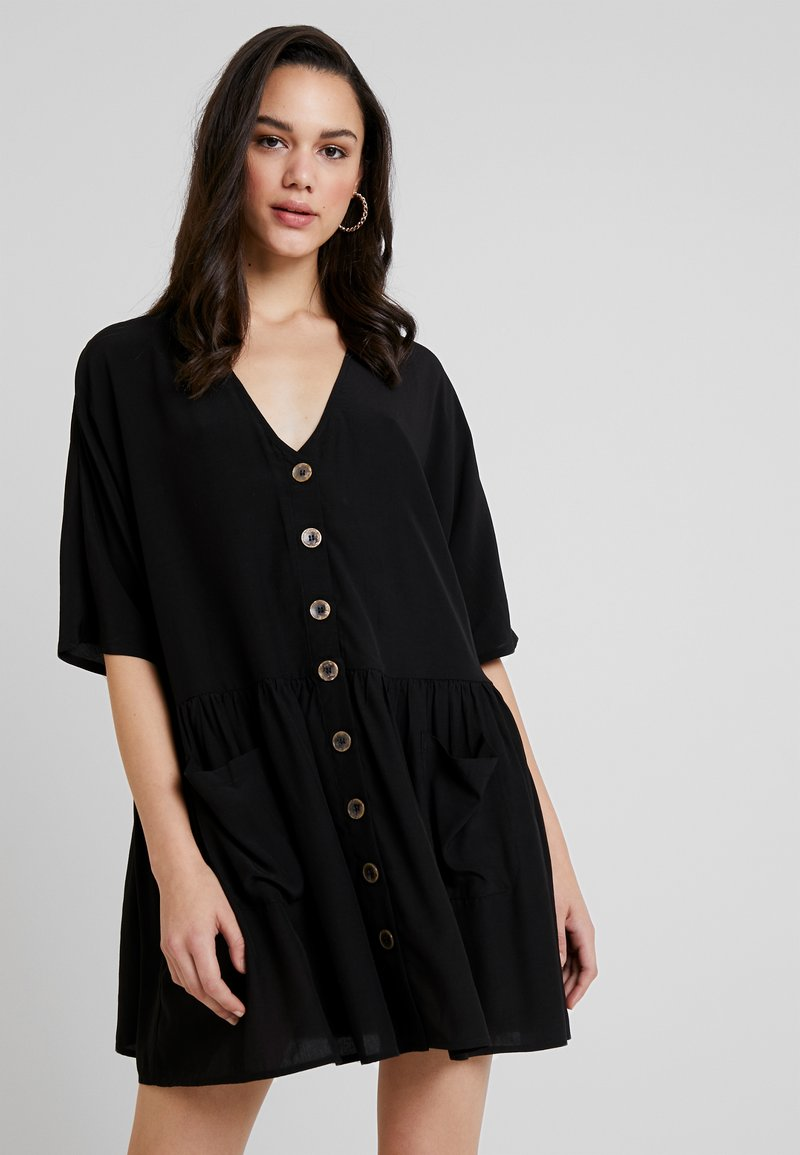 Object - OBJELLIE V-NECK TUNIC - Day dress - black