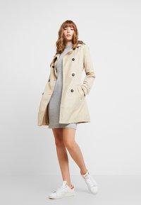 Object - Strikket kjole - light grey melange - 2