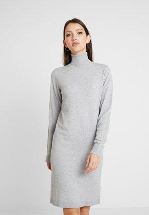 Strikket kjole - light grey melange