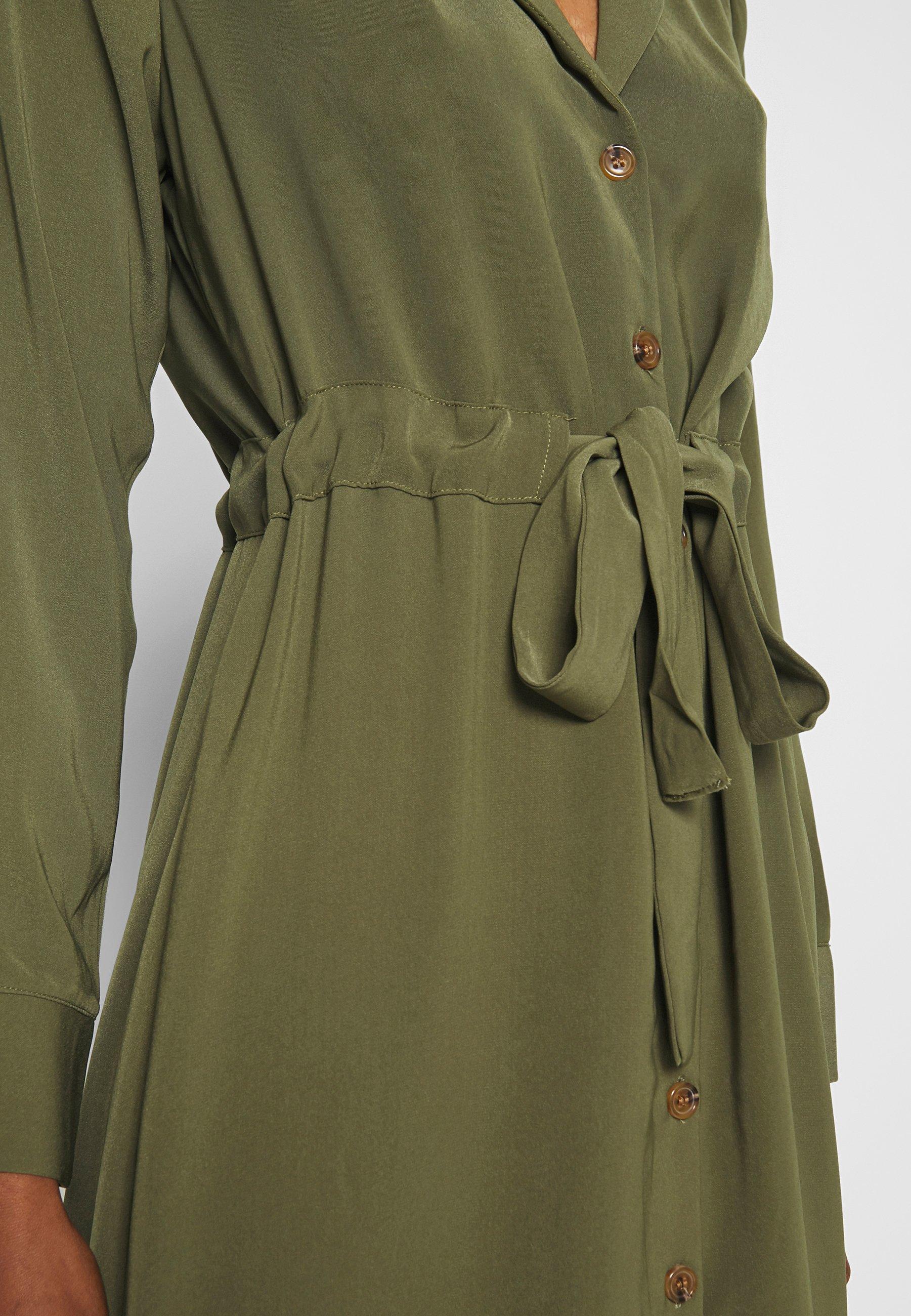 Object OBJMAE DRESS - Maxiklänning - burnt olive