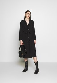 Object - OBJMAE DRESS - Robe chemise - black - 1