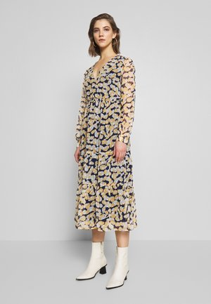 OBJINGRID WRAP DRESS - Kjole - sky captain