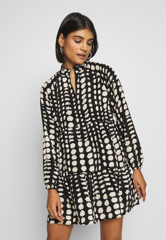 OBJGIA DRESS - Korte jurk - black