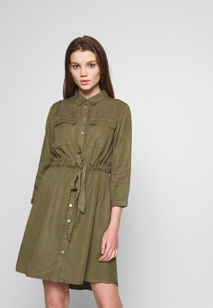 OBJJANA DRESS - Skjortekjole - burnt olive