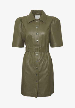 OBJSTAR  DRESS  - Skjortekjole - burnt olive