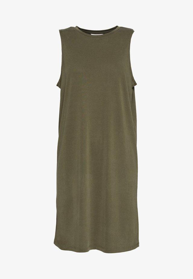 OBJTIA DRESS - Jerseyjurk - burnt olive