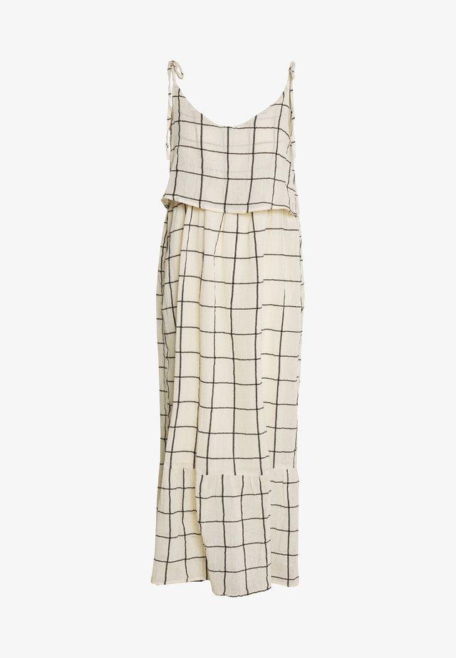 OBJDANJA STRAP DRESS - Korte jurk - gardenia/black