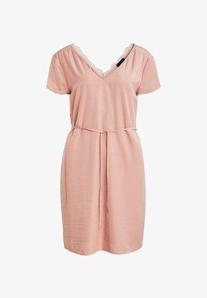 OBJEILEEN LACE V-NECK DRESS - Korte jurk - misty rose