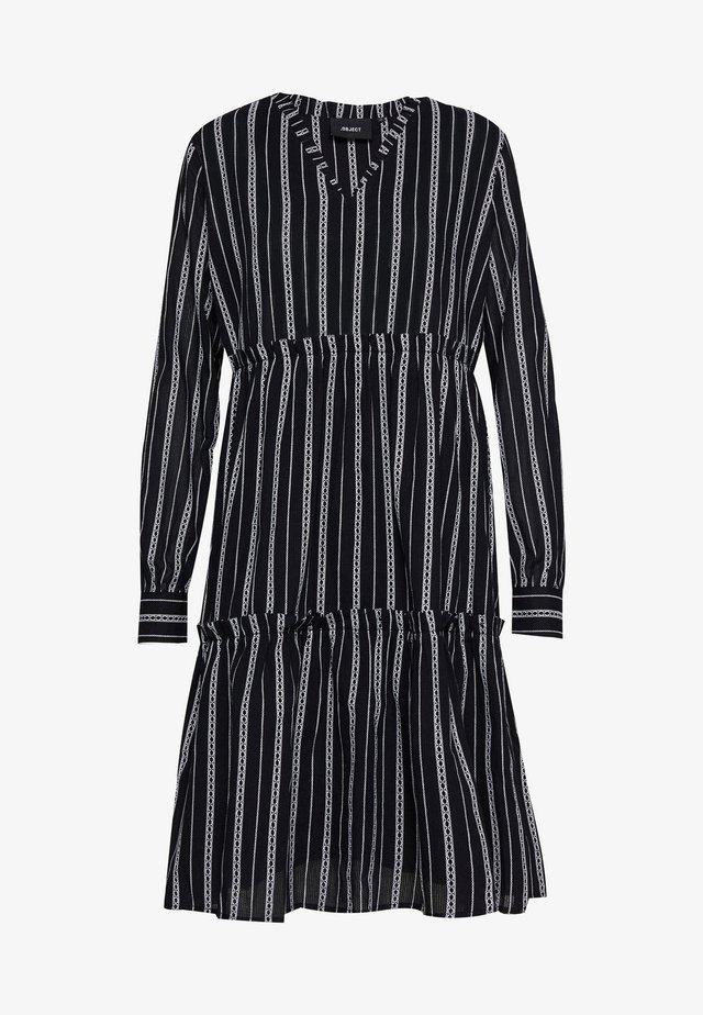 OBJDEEDEE DRESS - Korte jurk - black/white