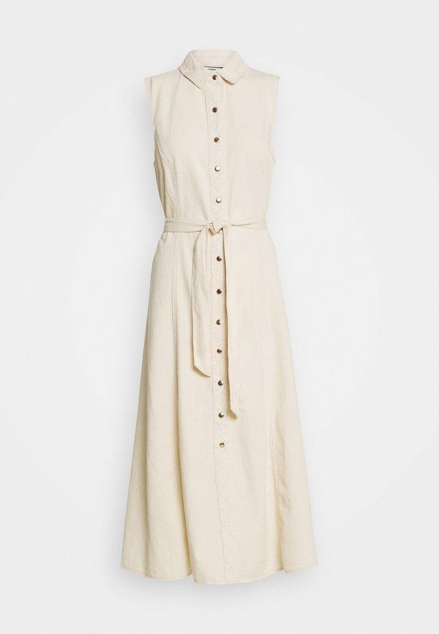 OBJLUCINDA LONG DRESS - Spijkerjurk - sandshell