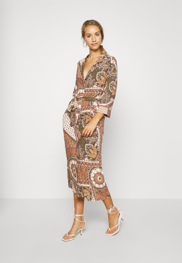 OBJSUN LONG DRESS - Robe d'été - burnt olive