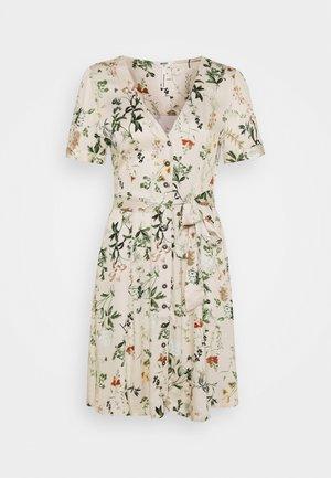 OBJALBA SHORT DRESS - Korte jurk - sandshell/multi colour