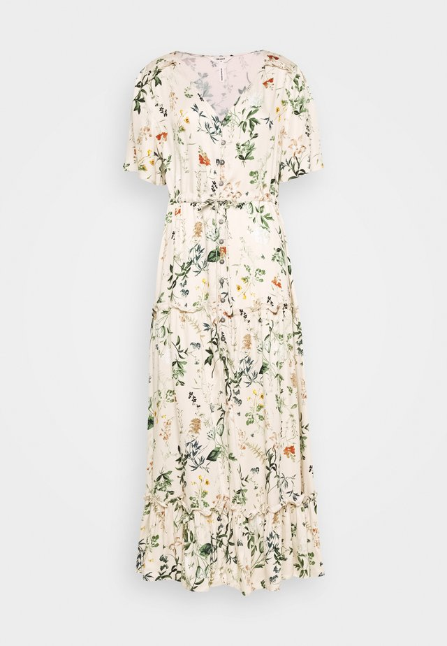 OBJALBA LONG DRESS - Maxi-jurk - sandshell/multi colour