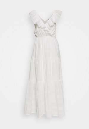 OBJAYJA LONG DRESS - Długa sukienka - cloud dancer