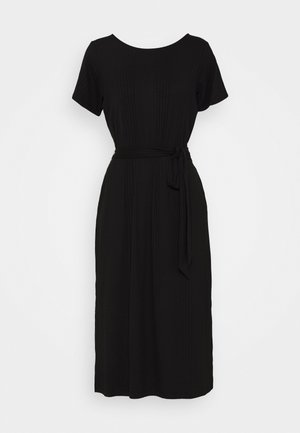 OBJCELIA DRESS - Žerzejové šaty - black