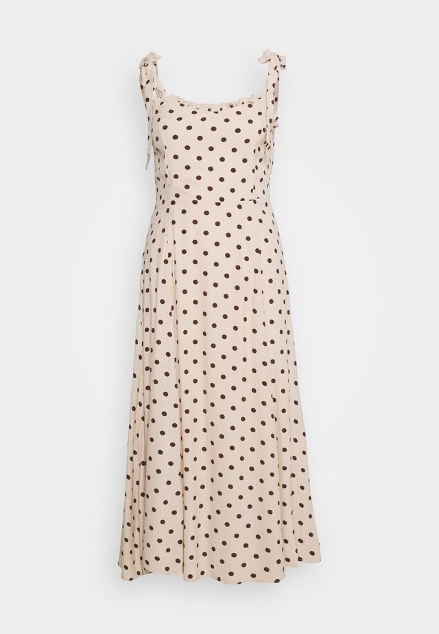 OBJELLIE LONG STRAP DRESS  - Denní šaty - sandshell