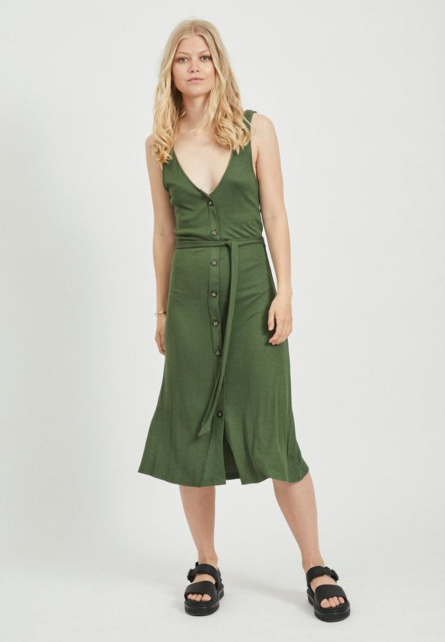 Shirt dress - burnt olive