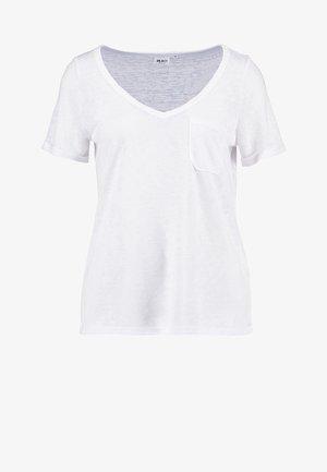 OBJTESSI SLUB - T-shirt - bas - white