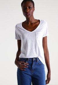 Object - OBJTESSI SLUB - Basic T-shirt - white - 0
