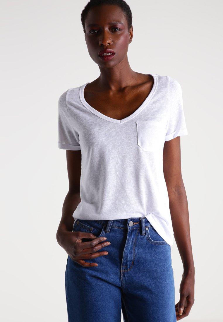 Object - OBJTESSI SLUB - Basic T-shirt - white