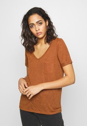 OBJTESSI V NECK - T-shirt imprimé - sugar almond