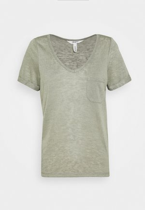 OBJTESSI V NECK - T-shirt con stampa - shadow
