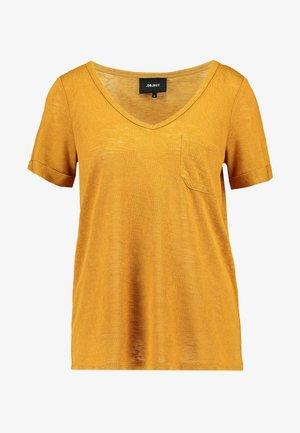 OBJTESSI VNECK SEASONAL - T-shirt - bas - buckthorn brown