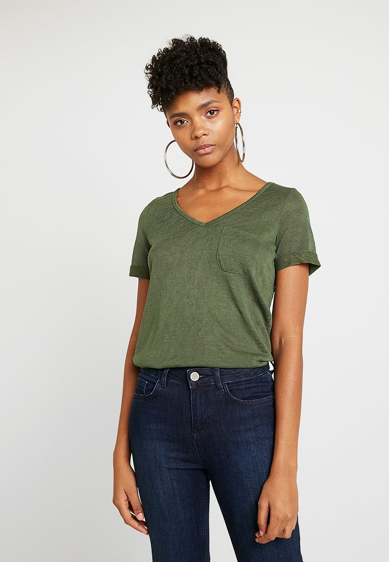 Object Neck Basique Forest Black shirt SeasonalT Objtessi V 8nX0wkOP