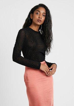 OBJLEAH MARIANN - Bluzka z długim rękawem - black
