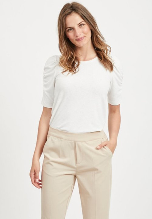 wylot Object MIT KURZEN ÄRMELN - T-shirt basic - gardenia Koszulki i Topy TAQU-XT4