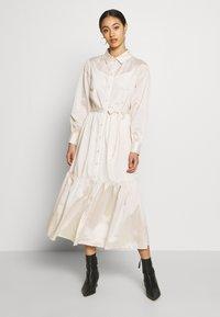Object - OBJVIVA DRESS - Abito a camicia - gardenia - 0