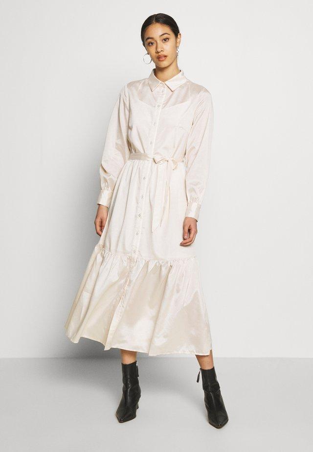 OBJVIVA DRESS - Shirt dress - gardenia