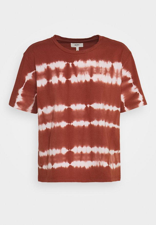 HERA TOP - T-Shirt print - sugar almond/white tie dye