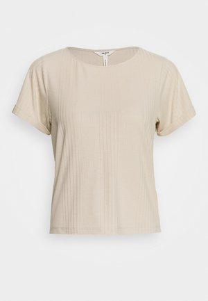 OBJCELIA - Print T-shirt - sandshell