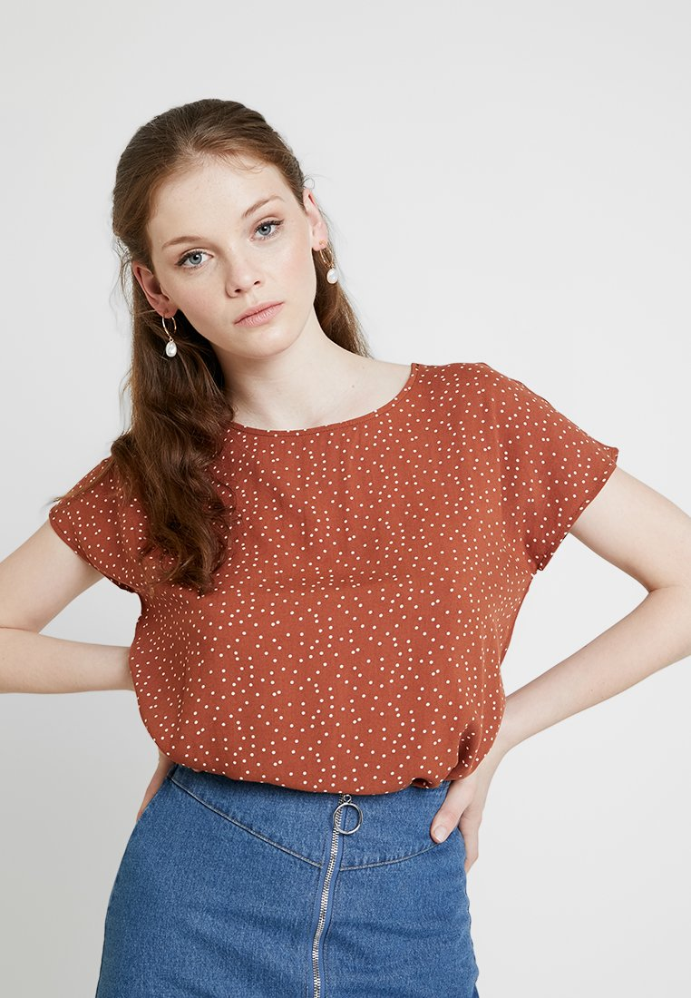 Object - OBJCLARISSA - Bluse - brown patina/white