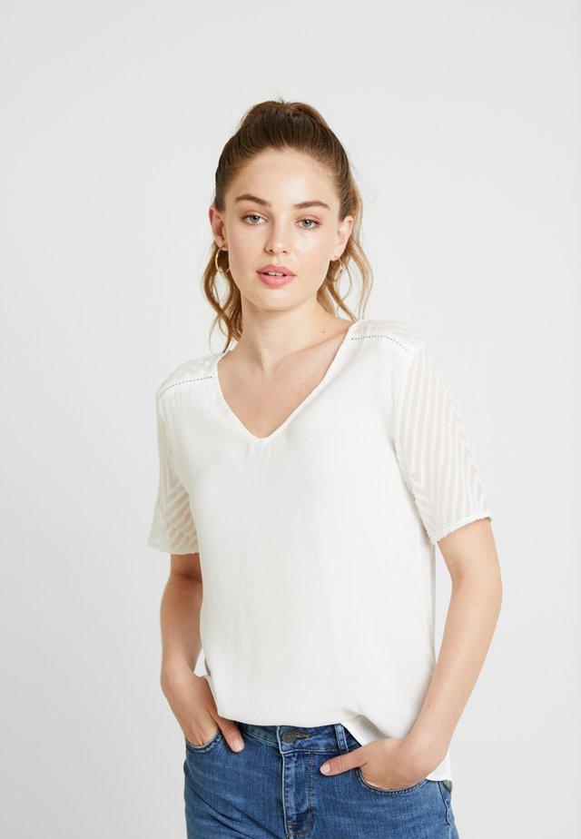 OBJZOE - T-Shirt print - gardenia