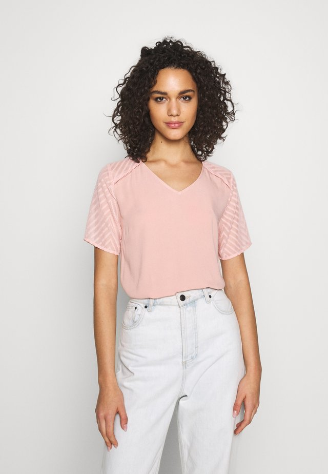 OBJZOE - T-shirt print - misty rose