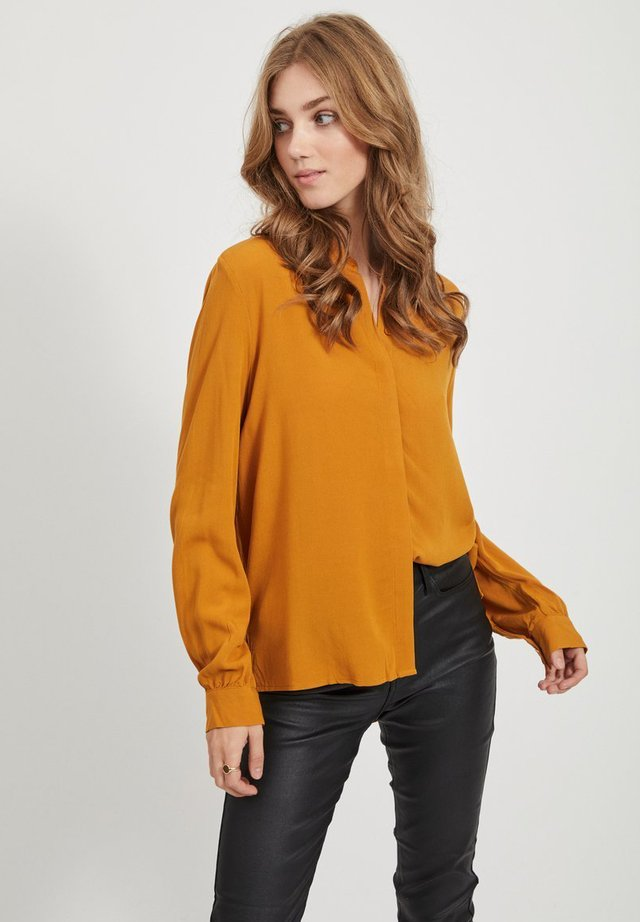 OBJBAY  - Button-down blouse - buckthorn brown