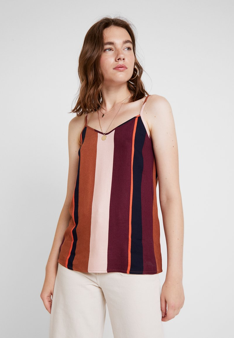 Object - Blouse - brown patina/striped