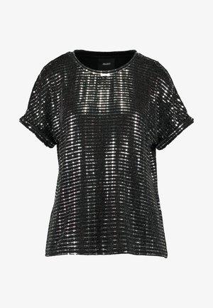 Bluse - black/silver