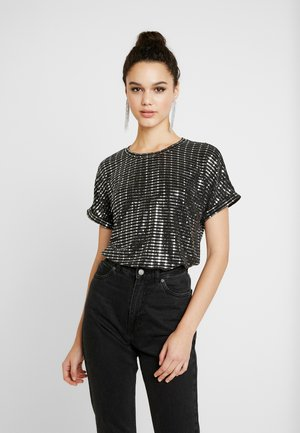 Blouse - black/silver