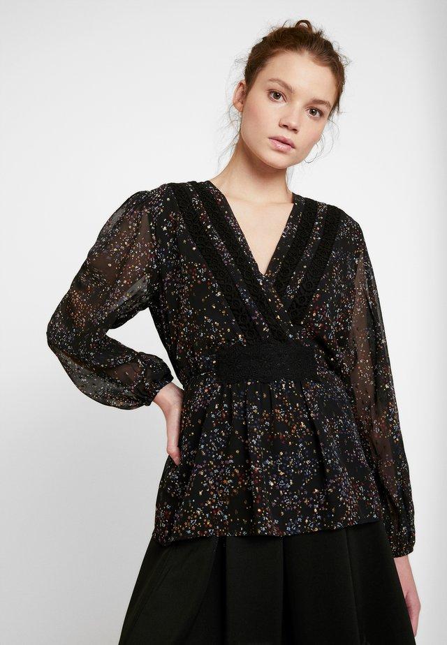 OBJMILO BLOUSE - Bluse - black/multi coloured