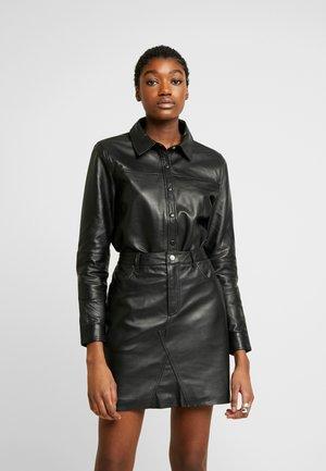 OBJKASANDRA - Button-down blouse - black
